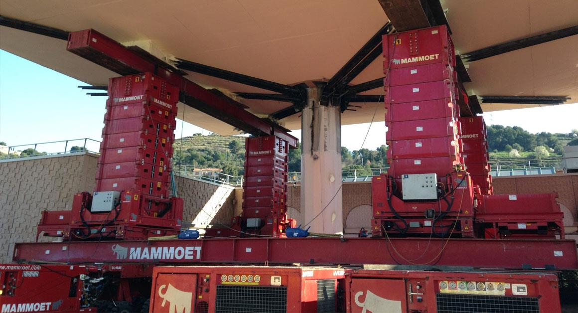 Project Carrefour | Mammoet | Civil construction | heavy lifting