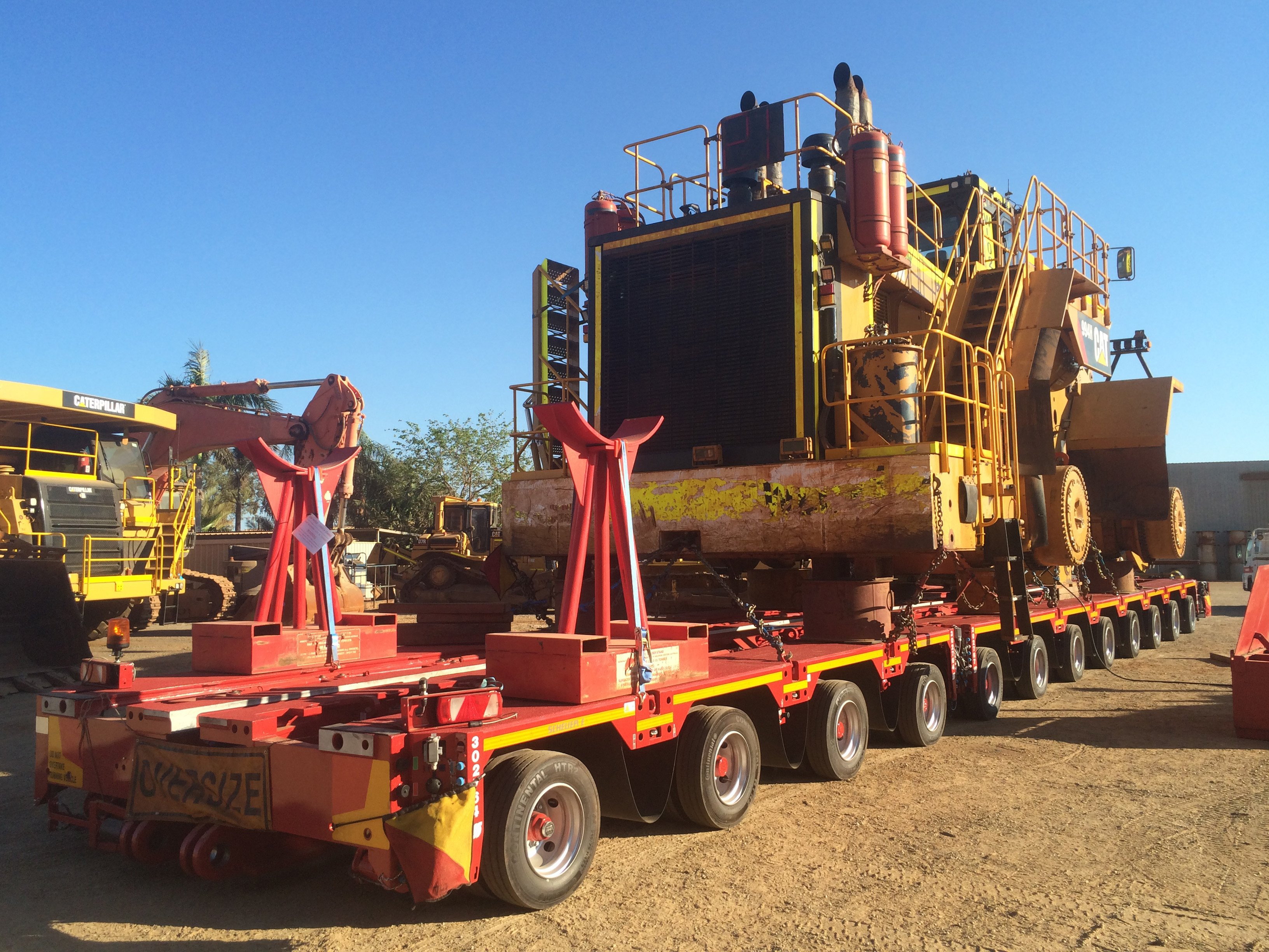 Transporting a CAT 994H loader from Port Hedland to Pilbara - Pilbara, Australia